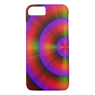 modern electric neon purple fuschia abstract iPhone 7 case