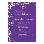 Modern Elegance Purple Bridal Shower Invitation
