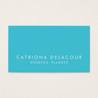 Modern Elegance Turquoise Business Card