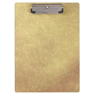 Modern Elegant Abstract Gold Clipboard