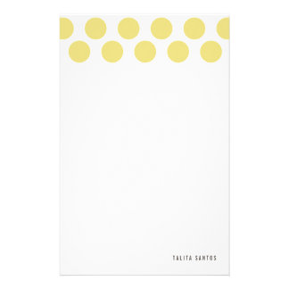 Modern Elegant Beige Sand Dots Personalized Stationery