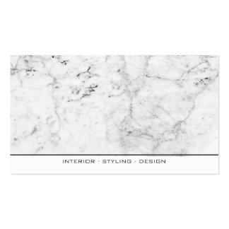 Modern elegant black and white marble professional pack of standard business cards