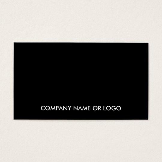 Modern Elegant Black White Simple Company Business Card