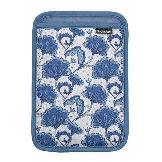 Modern Elegant blue batik pattern iPad Mini Sleeves