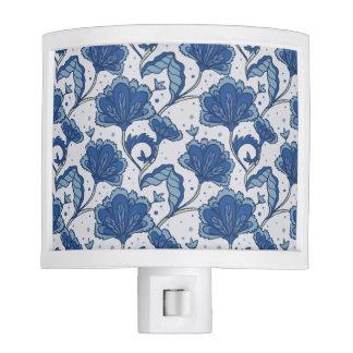 Modern Elegant blue batik pattern Nite Lites