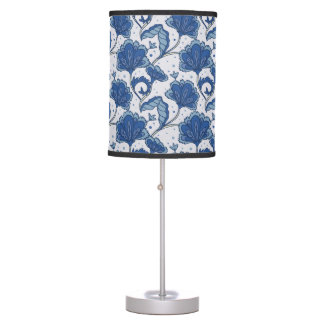 Modern Elegant blue batik pattern Table Lamps