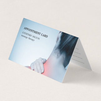 Modern Elegant Blue Massage Therapist Appointment Card