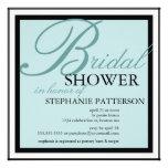 Modern & Elegant Bridal Shower in Teal Invitation