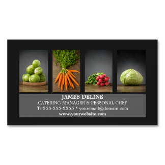 Modern Elegant Catering Chef Business Card