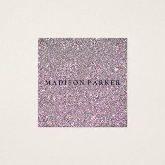 Modern Elegant Champagne Glitter Beauty Stylist Square Business Card