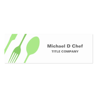 Modern elegant chef catering cutlery business card