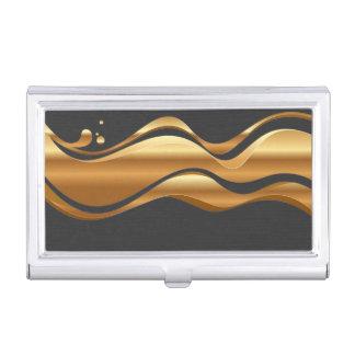 Modern Elegant Chic Faux Gold Business Card Holder