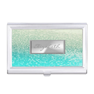 Modern Elegant Chic Girly  Glittery Business Card Holder