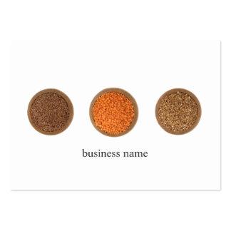 Modern Elegant Clean Health Seeds Nutritionist Large Business Card