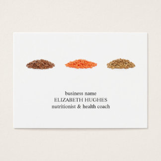 Modern Elegant Clean Seeds Photo Nutritionist Business Card