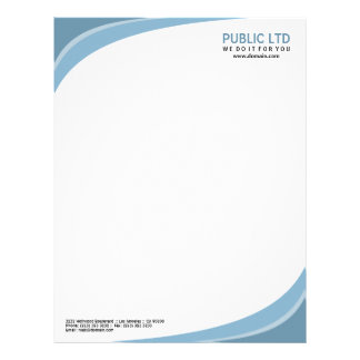 Modern Elegant Corporate Blue Letterhead
