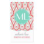 Modern Elegant Damask Coral Paisley Personalized