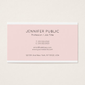 Modern Elegant Design Pink Professional Glamour Business Card