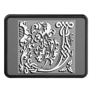 modern elegant fancy letter J   monogram Hitch Covers