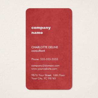 Modern Elegant Feminine Texture Red Consultant Business Card