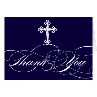 Modern Elegant First Communion Thank You Boys Card