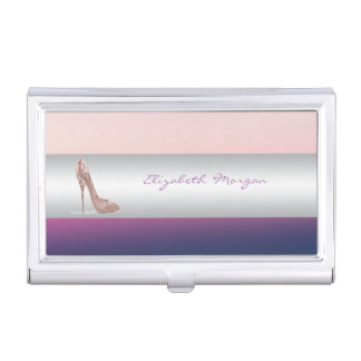 Modern Elegant Girly Adorable ,  Heels Business Card Holder