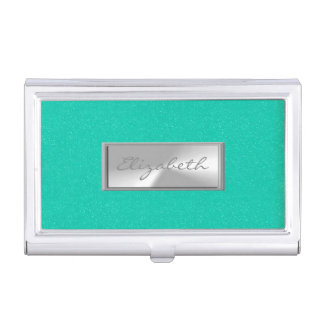 Modern Elegant  Girly , Glittery Business Card Holder