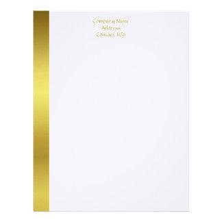 Modern Elegant Gold Foil Company Custom Letterhead