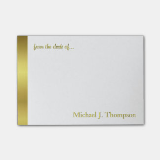 Modern Elegant Gold Foil Post-it Notes