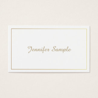 Modern Elegant Gold White Lawyer Director Manager Business Card