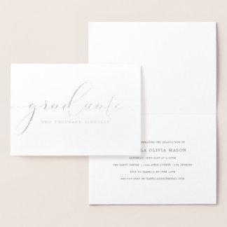 Modern Elegant Graduate Script (Real Foil) Foil Card
