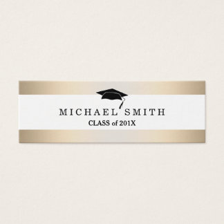 Modern Elegant Graduation Name Card