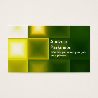 Modern Elegant Green and Yellow Geometric Shapes Business Card