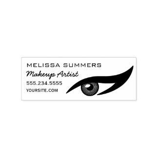 Modern Elegant Makeup Artist Eye Eyeliner Address Rubber Stamp