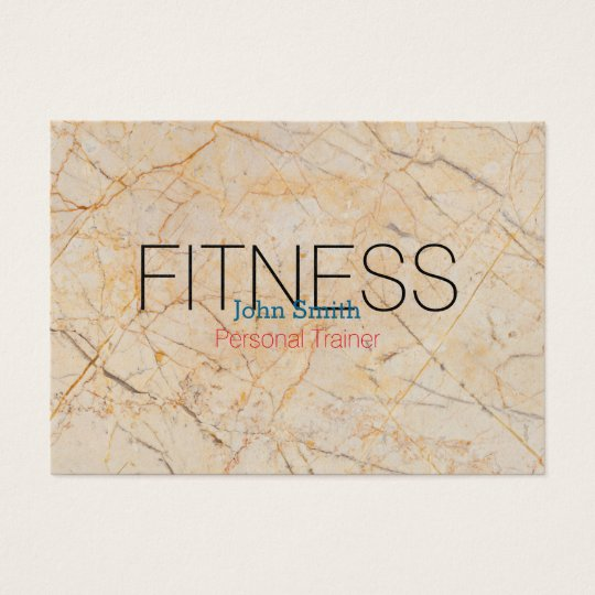 Modern Elegant Marble Personal Fitness Trainer Business Card