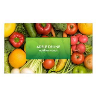 Modern Elegant Nutrition Coach Business Card