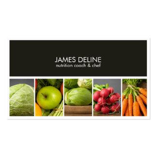 Modern Elegant Nutritionist Chef Pack Of Standard Business Cards