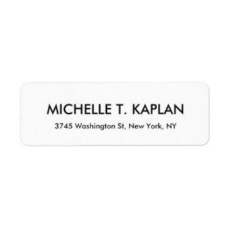 Modern Elegant Plain Black & White Minimalist