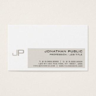 Modern Elegant Professional Monogram Chic Business Card