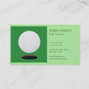 Golf business cards profile cards zazzle ca modern elegant professional simple design golf business card colourmoves