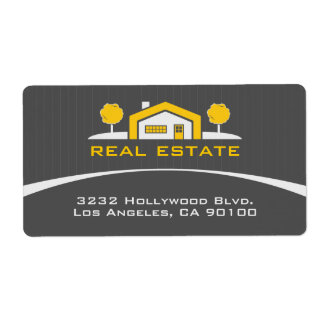 Modern Elegant Real Estate Address Label