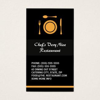 Modern elegant restaurant or catering business card