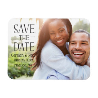 Modern Elegant Save the Date Magnet