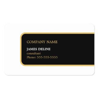 Modern Elegant Simple Black Gold Consultant Business Card