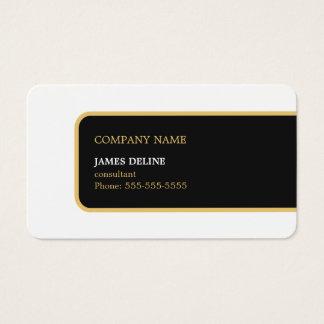 Modern Elegant Simple Black Gold Consultant Business Card