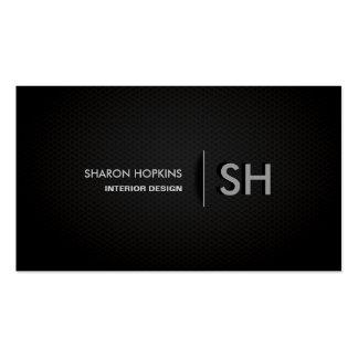 Modern Elegant Simple Plain Black Sleek Pack Of Standard Business Cards