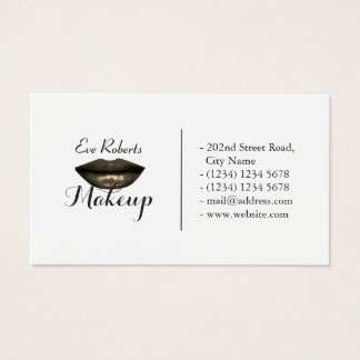 Modern elegant split sides look business card