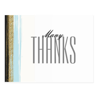 Modern Elegant Thank You Postcard - Editable