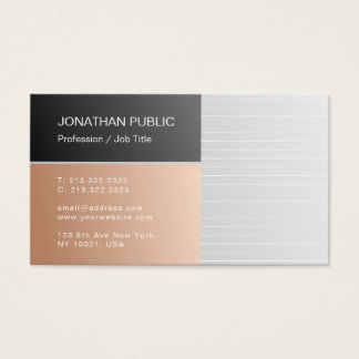 Modern Elegant Trend Colors Premium Silk Luxury Business Card