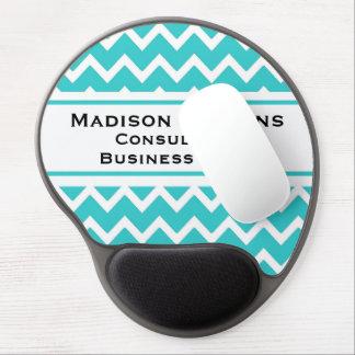 Modern Elegant Turquoise Zig Zag Gel Mouse Pad